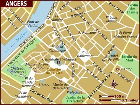angers map map of angers