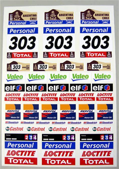 Rallye Sponsoren Aufkleber by Rc Dakar 2011 Rock Crawler Stickers Decals Tamiya Df 01 Ebay