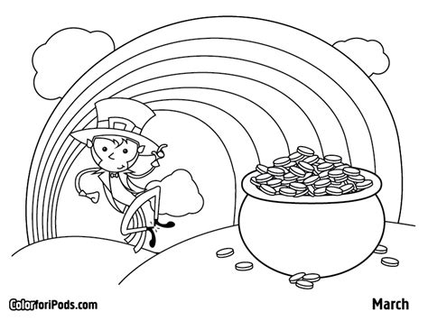 March Coloring Page march color for ipods coloring pages