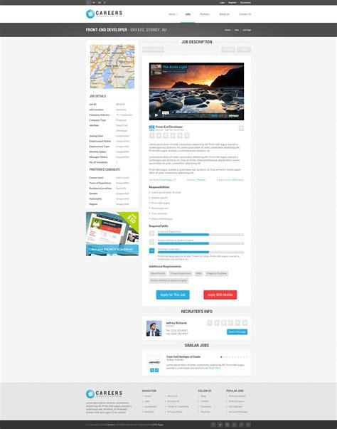 themeforest job portal careers job portal psd template multipurpose by
