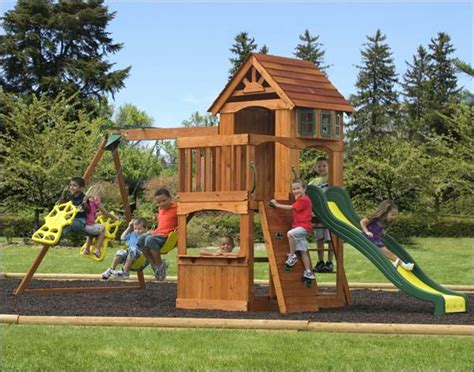 playsets for backyard cedar atlantic playset contemporary playsets and