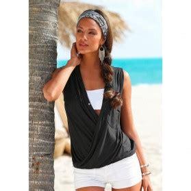 Dress Wanita Casual Sleeveless Dress Putih dress wanita casual summer style size l black
