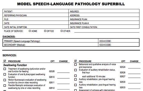 Occupational Therapy Invoice Template The Asha Model Superbill Explained Pdf Download Denryoku Superbill Template Psychotherapy