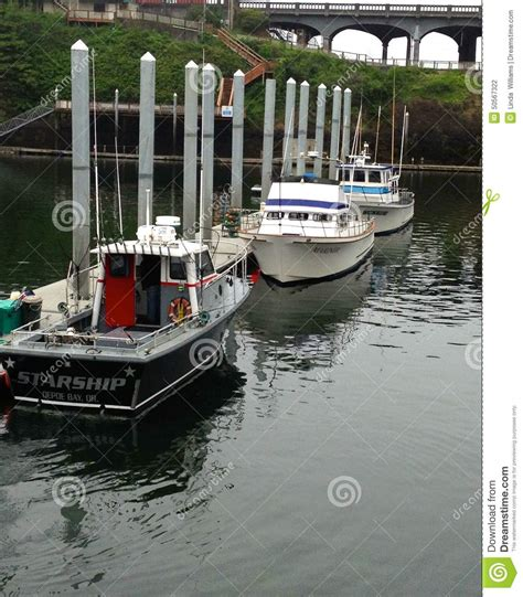 charter boat fishing depoe bay oregon salmon and cod commercial charter fishing boats editorial