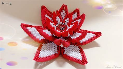 How To Make A Small Origami Flower - how to make 3d origami flower 4 my crafts and diy projects