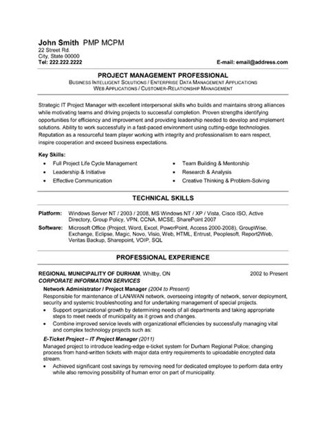Project Management Resume Templates by It Project Manager Resume Template Premium Resume