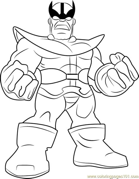 marvel thanos coloring pages thanos coloring page free the super hero squad show