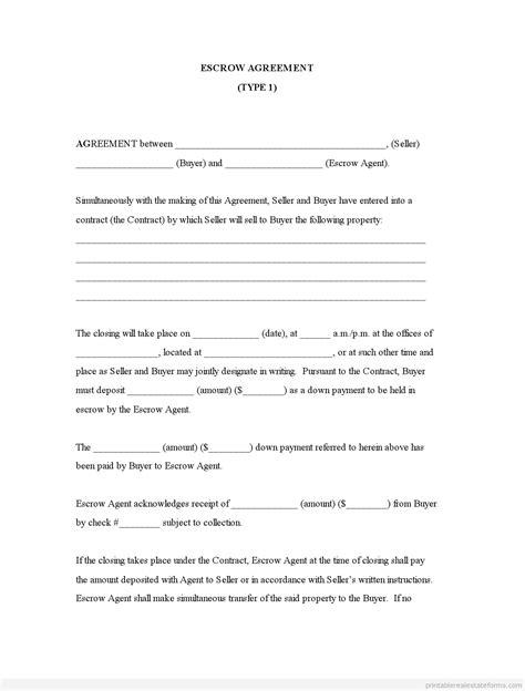 printable real estate escrow letter sample basic
