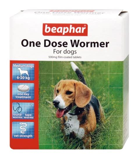 worm medication for dogs beaphar one dose wormer for medium dogs 2 tablets worm treatment for dogs