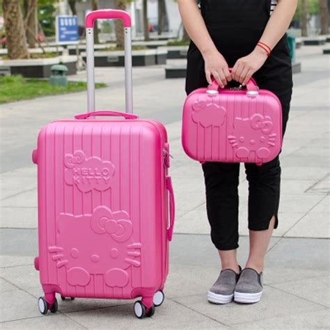 Luggage Bag Covers Hello 20 Inch 14 20inchhello suitcase trolley travel bag set spinner rolling luggage sets abs