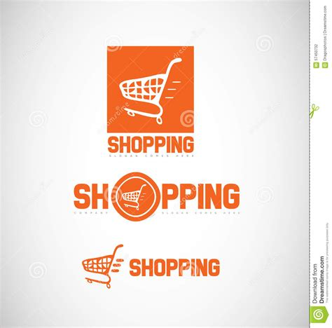 shopping cart logo icon stock vector image of commerce