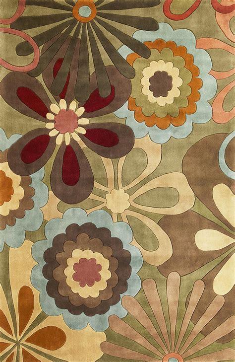 retro rug kas ruby 8918 retro flora area rug free shipping