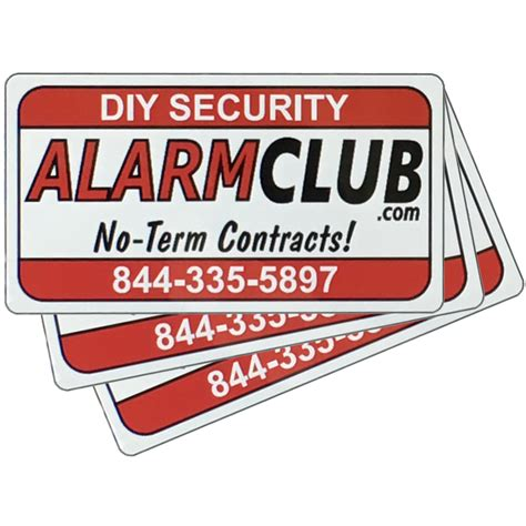 alarmclub security stickers