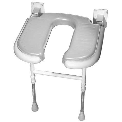 wall mounted padded shower bench akw wall mounted fold up u shaped padded shower seat