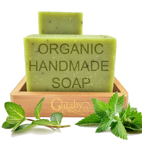 Handmade Organic Soap - organic handmade soap with bamboo soap dish refreshing