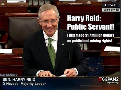 ebl democrat hypocrisy harry reid makes 1 7 million on