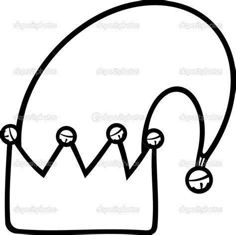 elf hat black and white clipart clipart suggest