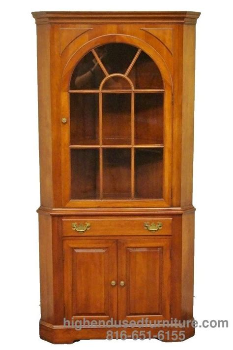 cherry corner media cabinet willett wildwood solid cherry corner china cabinet hutch
