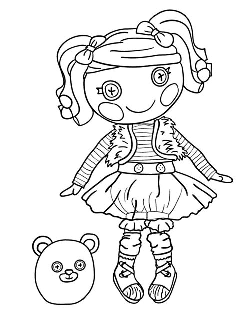 Lalaloopsy boy colouring pages page 2