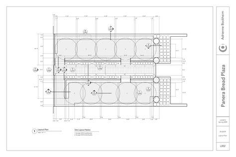 layout plan in construction panera bread plaza construction drawings adrienne bockheim