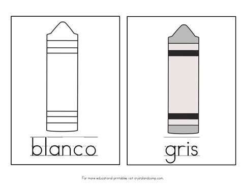 spanish gray teach colors to kids in spanish