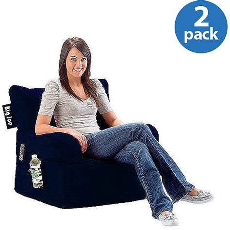 Bean Bag Chairs Walmart by 2 Pack Big Joe Bean Bag Chair Bundle Mix And Match Colors