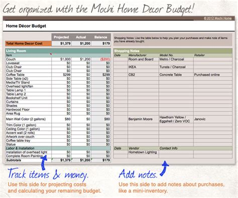 Home Interior Design Budget Home Budget Excel Worksheet Household Budget Spreadsheet