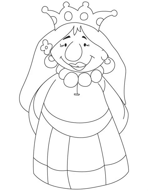 coloring pages of the queen queen coloring coloring pages