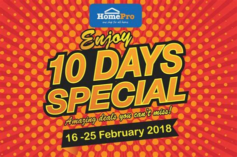 homepro malaysia  days special promotion  february