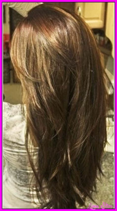 pictures of back of choppy layered hair long choppy layered haircuts back view livesstar com