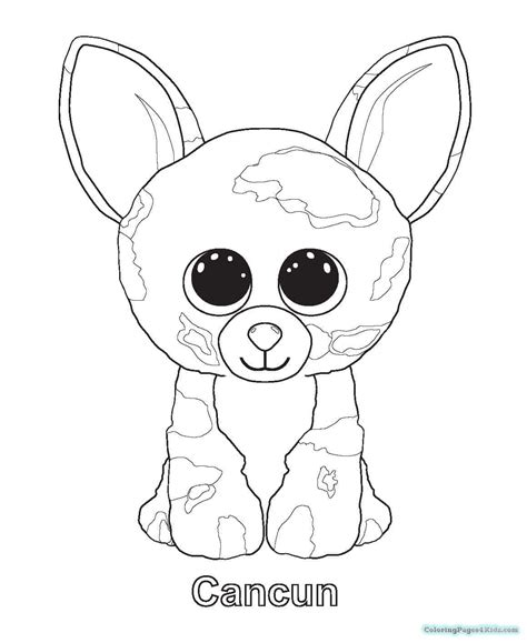 beanie boo coloring pages beanie boos dogie coloring pages free printable coloring