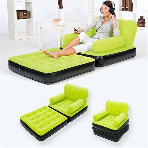 inflatable settee double bed multi max inflatable pull out sofa couch full double air
