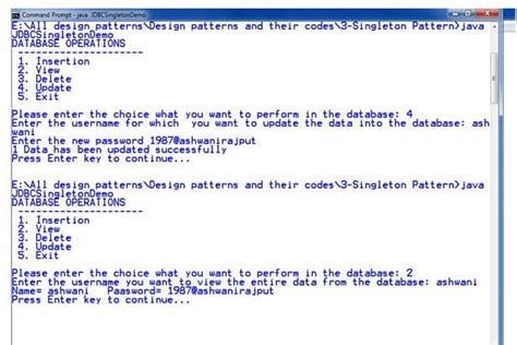 singleton pattern in java code singleton design patterns javatpoint