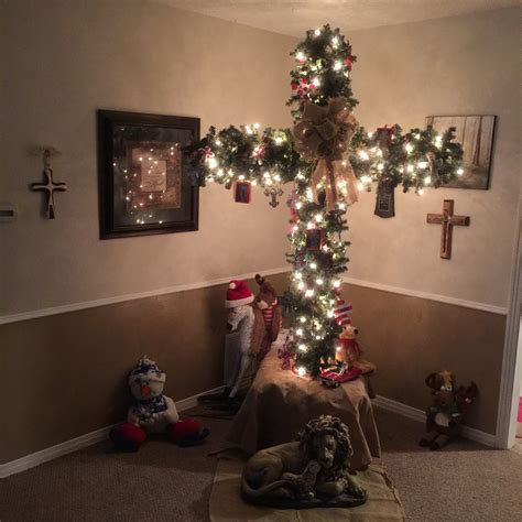 christmas cross tree jesus is the reason for the season