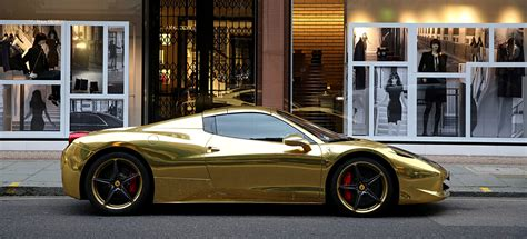 golden ferrari gold ferrari 458 spider the billionaire shop