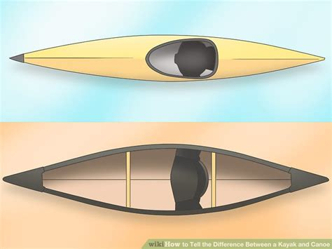 canoes or kayaks how to tell the difference between a kayak and canoe 5 steps