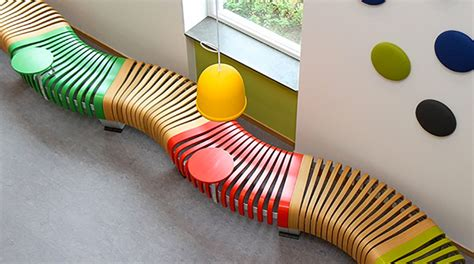 colorful bench a clever and colorful bench from green furniture concept