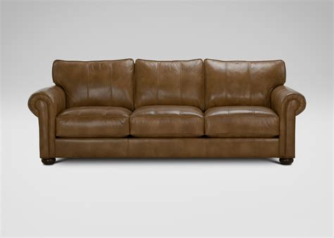 ethan allen leather sectional richmond leather sofa ethan allen