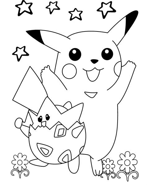 ninja pikachu coloring page pokemon pikachu playing in the flower garden coloring