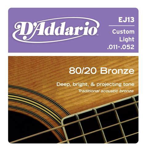 Senar Gitar D Addario Akustik 011 d addario ej13 acoustic guitar strings 80 20 bronze custom