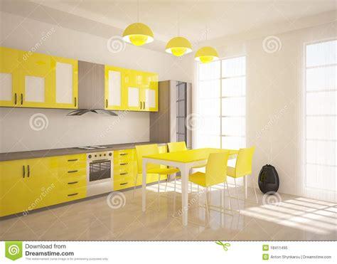 cuisine jaune cuisine jaune photo libre de droits image 18411495
