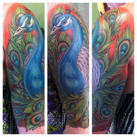 peacock tattoo quarter sleeve a peacock tattoo sleeve alonzo blazin villa from bearcat