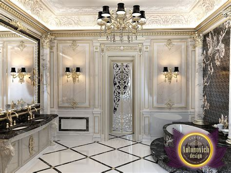 luxurious interior the bathroom luxurious interior in a classic style from