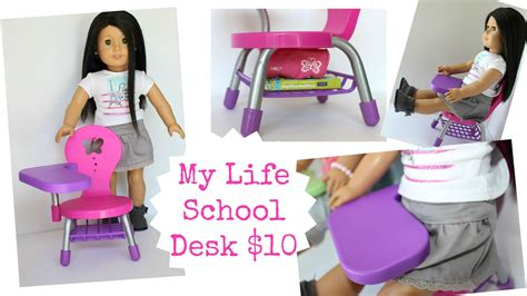 my life doll desk american doll desk playset review youtube