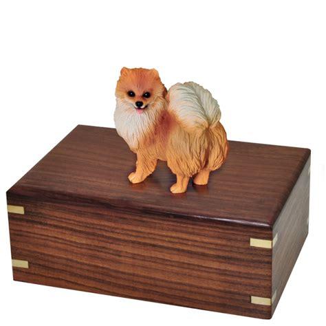 pomeranian figurines pomeranian figurine wood urn