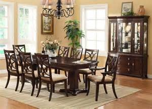 Dark Sideboard Furniture Crown Mark 7 Pc Katherine Transitional Dining Room Set