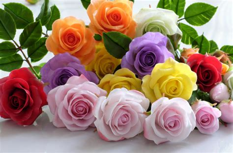 colorful clay colorful clay roses jigsaw puzzle in flowers puzzles on