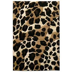 Leopard Outdoor Rug Donnieann Sculpture Leopard Skin Print Black 5 Ft X 7 Ft Indoor Area Rug S247bk The Home Depot