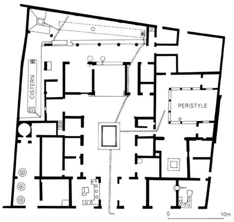 layout of pompeii house plan of the house of sallust pompeii roman garden and