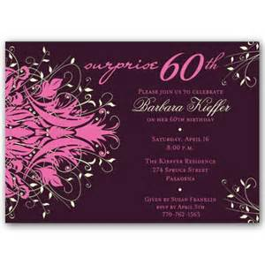 wordings for 60th birthday invitation cards